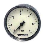 Manometras horizontalus Watts 0-6 bar. dm 63